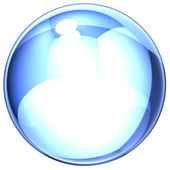Blue soap-bubble — Stock Photo