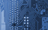 Blue microcircuit — Stock Photo