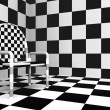 Royalty-Free Stock Photo: Checkered modern chair