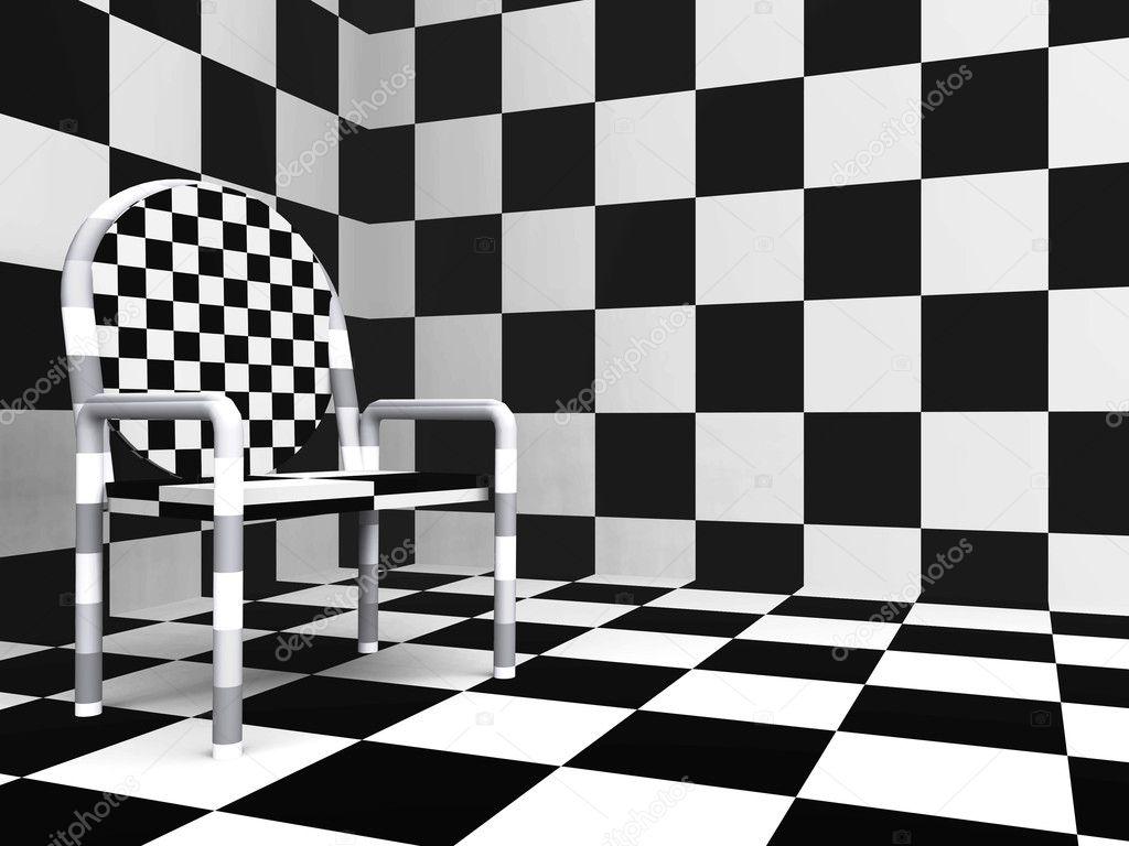 Karierte moderner Stuhl — Stockfoto © Serp77 #2337899