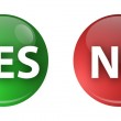 Button Yes No — Stock Photo