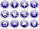Blue Creative commons — Stock Photo