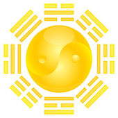 YinYan Sun Eight Triagrams — Stock Photo