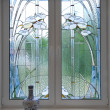 Stained-glass window — 图库照片
