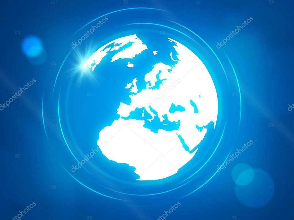 World globe with shiny points  Stock Photo #1784042