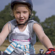 Stock Photo: Bike end girl