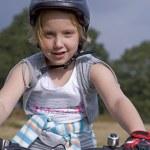 Bike end girl — Stock Photo