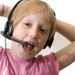 Young operator with headset — Stock Photo #2204980