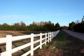 White Country Fence — Stock Photo