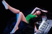 Sleeping pianist — Stock Photo