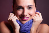 Smile and scarf — Stock Photo