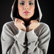 Cute in da hood. — Stock Photo