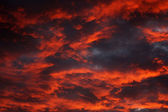 Dramatic sky at sunset with strong color — Stock Photo