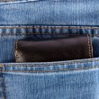 Wallet showing in back pocket of jeans — Stock Photo #1903076
