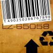Stock Photo: Bar code label