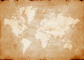 Vintage world map — Stock Photo