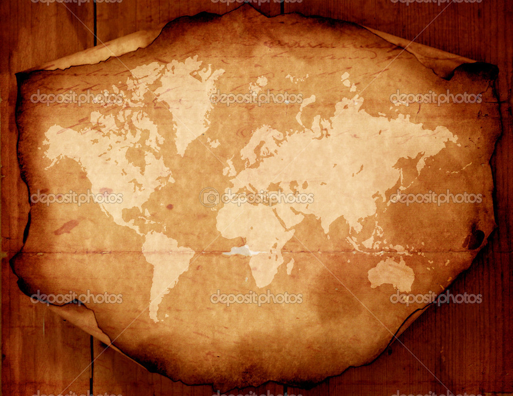 Vintage world map,2D digital art — Stock Photo #1856460