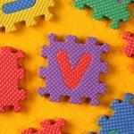 Alphabet and Number Blocks — Stock Photo