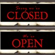 Closed & open tag — Stock Photo