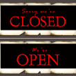 Closed & open tag — Foto Stock