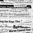 Paper headlines — Stock Photo #1912004