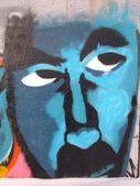Graffiti. Blue. Eyes. — Stock Photo