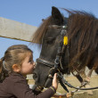 Little girl and pony — Stock Photo #1844517