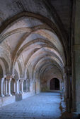 Cloister in abbey — Foto de Stock