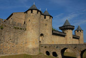 Carcassonne, medieval city — Stock Photo