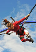 Bungee jumping — Stock Photo