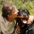 Stock Photo: Man and dog