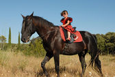Child and horse — Fotografia Stock