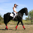 Stock Photo: Riding girl