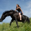 Riding girl — Stock Photo