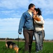 Couple withe their two dogs — Stock Photo #2150928
