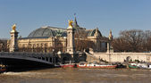 Pont Alexander III et the Grand Palais — Stock Photo