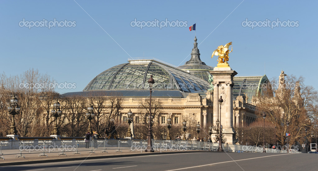 The Grand Palais dome in Paris, France — Stock Photo #2453989
