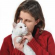 Woman and cat — Stock Photo #2538828