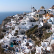 White Santorini houses - Stock Photo
