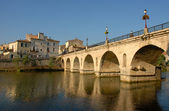 French bridge in sommieres — Stock Photo
