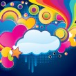 Funky cloud — Stock Vector