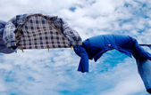 Shirts on wind — Stock Photo