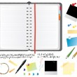 Royalty-Free Stock Imagen vectorial: Daily planner set