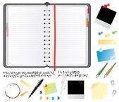 Daily planner set — Stock Vector