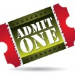 Admit one cinema ticket — Stock Vector