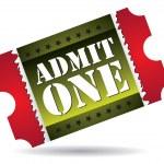 Admit one cinema ticket — Stock Vector