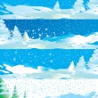 Winter internet banners - Stock Vector