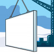 Billboard in construction — Stock Vector