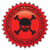 Pirate copy label — Stock Vector