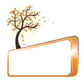 Autumn tree and banner — Stock Vector
